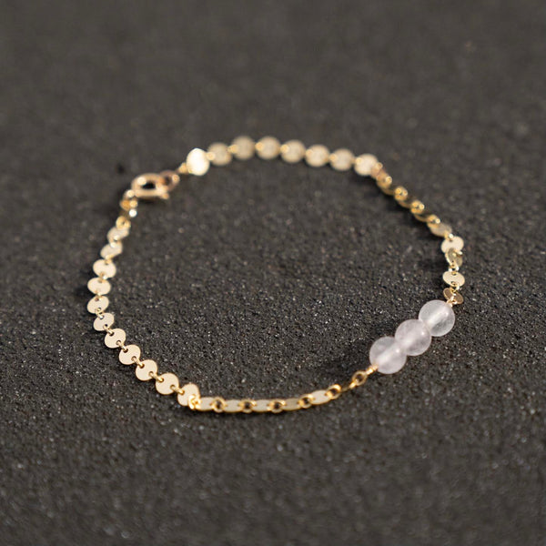 Rose Quartz Anklet