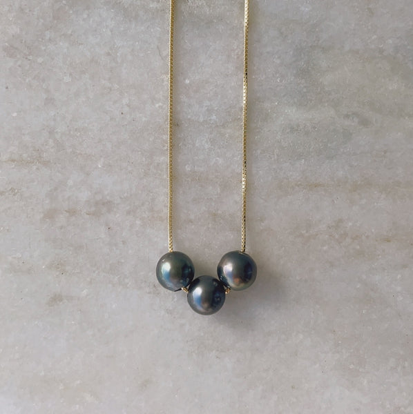 Tahitian Pearl Necklace w/ Imperfections