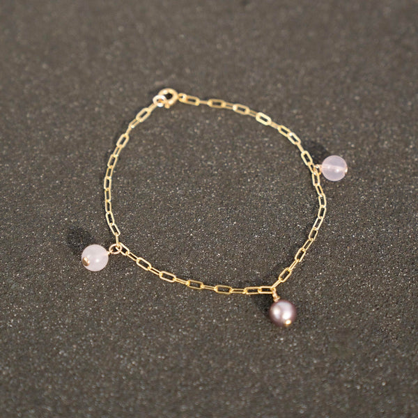 Pretty in Pink Anklet