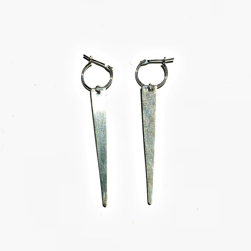 Spiked earrings. Bold. Sterling silver.