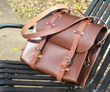 Rustic Leather Messenger Bag style Satchel