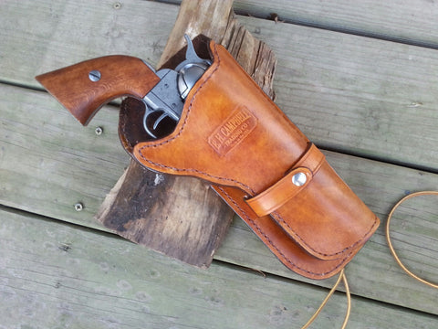 Lawman Western Holster with Leg Ties - Up to 7 1/2 inch Barrels