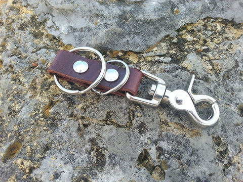 Latigo Double Ring Key Fob