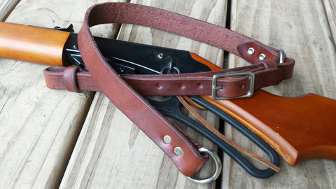Rifle Sling - Two Piece Western Style Sling with Free Hand Stamped Letter Initials