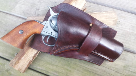 Texas Loop Handmade leather Western Holster with Leg Ties Colt Peacemaker