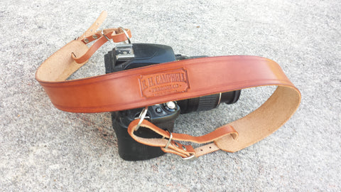Adjustable Rustic Leather Camera Strap