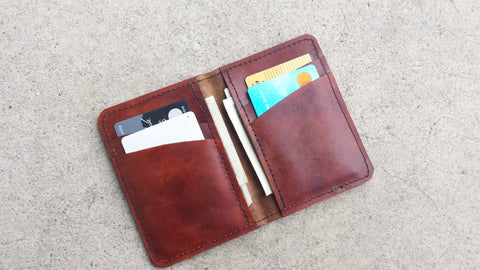 Leather Tall Bi-Fold Wallet - No. 102