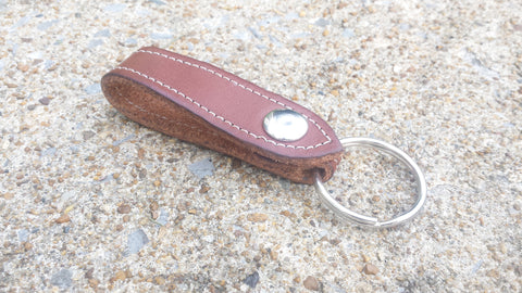 No. KF53 Belt Clip Leather Key Fob / Chain