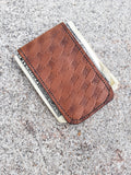 Leather Magnetic Money Clip - Hand Made in the USA