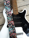 Whitaker Leather Paisley Classic Guitar Strap with Leather Ends