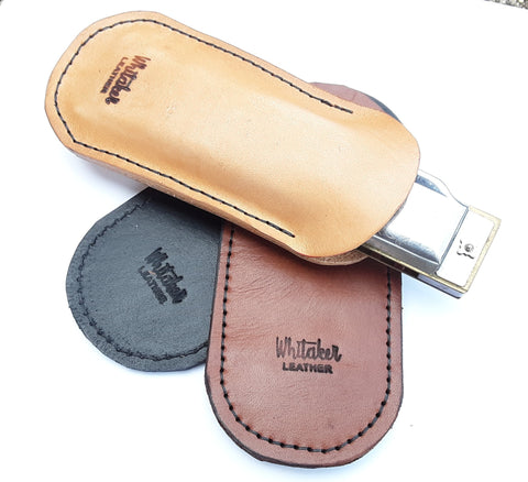 Foldable Leather Harmonica Pocket Holder