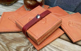 Leather Coasters 4 Piece Set, Made in the USA