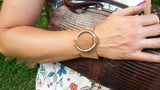Leather Wrap Bracelet with O Ring Closure