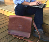 Campbell's Classic Leather Messenger Bag