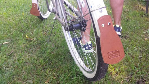 Leather Mud Flaps for Vintage Bicycles