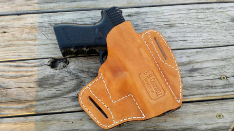 Handmade Leather High Sided Pancake Holster