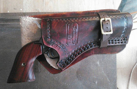 Double Stitched Western Leather Holster with Leg Ties - 22 Pistols & similar