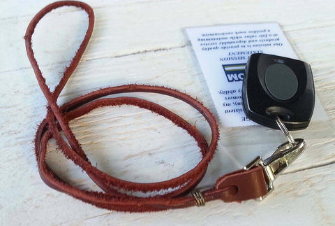 Leather String Lanyard With Western Rein Style Knot End Handmade for Mother's Day or Just as a Gift
