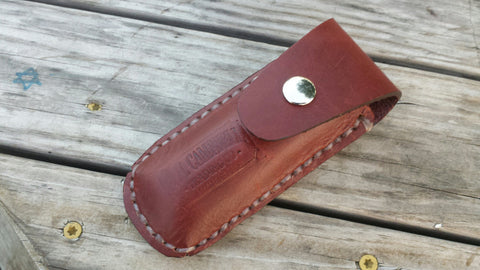 Leather Pocket Knife Case handmade in the USA Perfect for a Gift, Father's Day, Christmas or for Outdoor lover! Fits a variety of sizes
