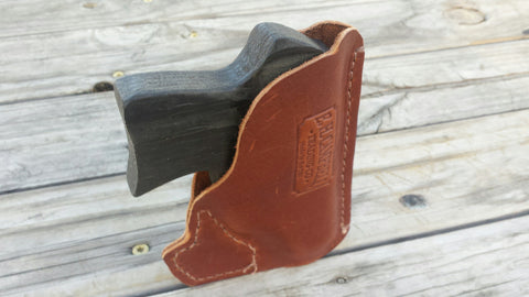 Handmade Leather Concealment Pocket Holster for 380/38, Compact 9MM, 22 and like Pocket or Purse Concealment Pistol Carry, Perfect Gift!