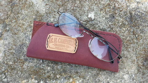 Leather Eyeglass Holder / Case, Handmade in USA, Western, Southwestern, Mother's Day Gift, Birthday Gift, Eyeglasses or Sunglasses