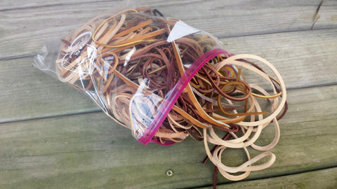 1.5 Pounds of Leather Strings and Strips - Farmers Repair Kit, Leather Strings, Lace,