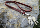 ON SALE - Small Leather Lanyard Handmade - Perfect for youth, camping, work, as a gift, birthday, more. Made in the USA!
