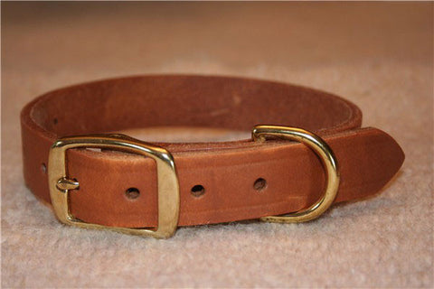 Up Cycled Leather Dog Collar