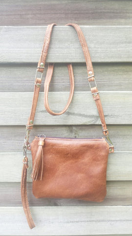 Ladies Tuck Flap Leather Tote