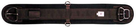 Tuffy Western Felt Backed Girth Moore Easy Buckle in Brown