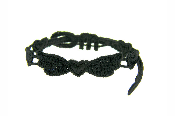 Missiu Angel Heart Bracelet Black