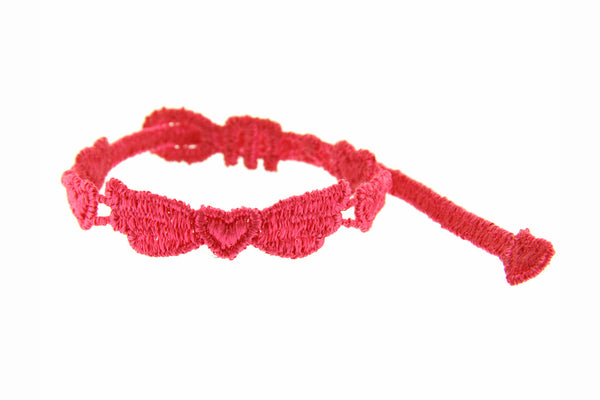 Missiu Angel Heart Bracelet Raspberry