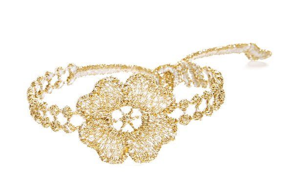 Missiu Flower Bracelet Gold Metallic