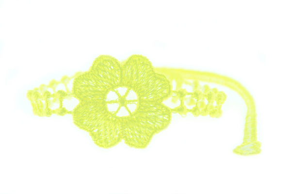 Missiu Flower Bracelet Yellow Neon