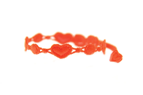 Missiu Heart Bracelet Neon Orange