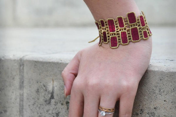 Missiu Josephine Bracelet Gold and Red
