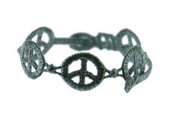 Missiu New Peace & Love Bracelet Dark Grey