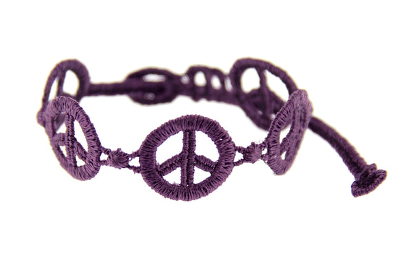 Missiu New Peace & Love Bracelet Purple