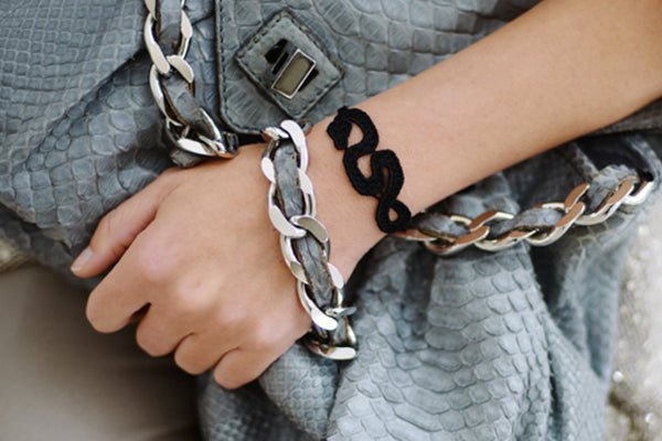 Missiu Snake Bracelet Black / Brown