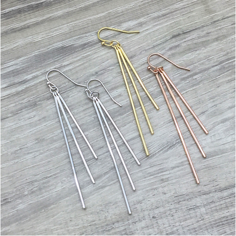 Mind Over Metal Drop Earrings - Sexton in the City Boutique