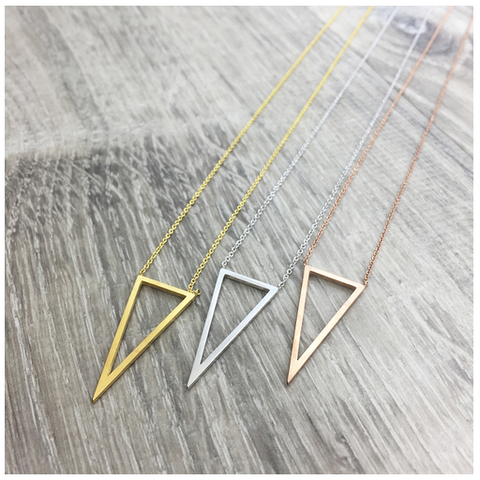 Open Triangle Necklace - Sexton in the City Boutique