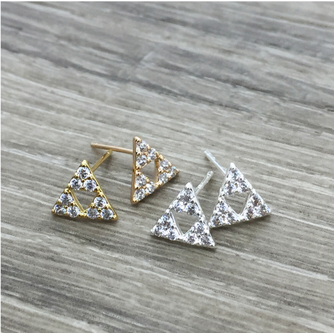 Triangle Earrings - Sexton in the City Boutique
