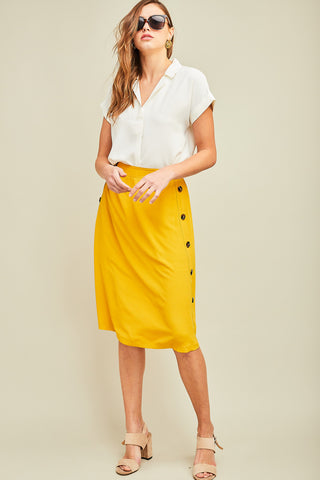 Get Button-Down to It Skirt