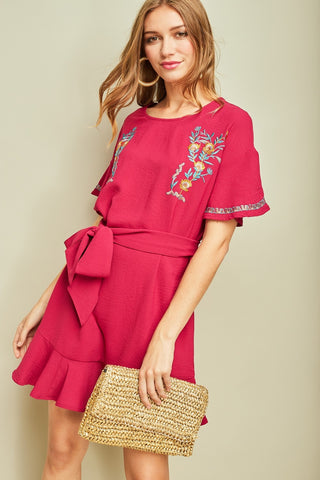 Say It Ain't Sew Embroidered Dress - Sexton in the City Boutique