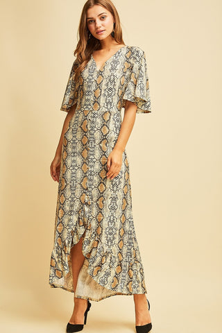 4f572437cd843 Snake Bite Maxi Dress   Sexton in the City Boutique