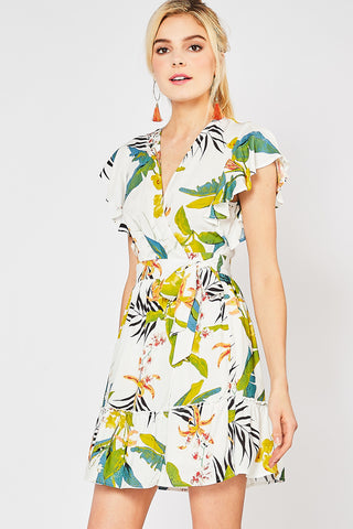 Off Tropic Wrap Dress