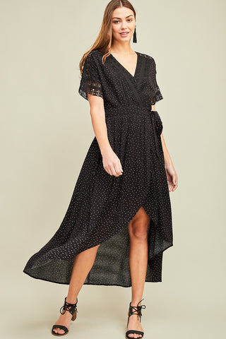 Call the Dots Wrap Dress
