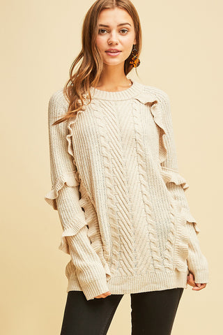 Ruffle Me Up Sweater