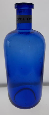Cobalt Apothecary Bottle