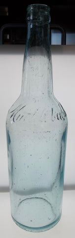 Muehlebach Beer Bottle in Light Blue from Kansas City